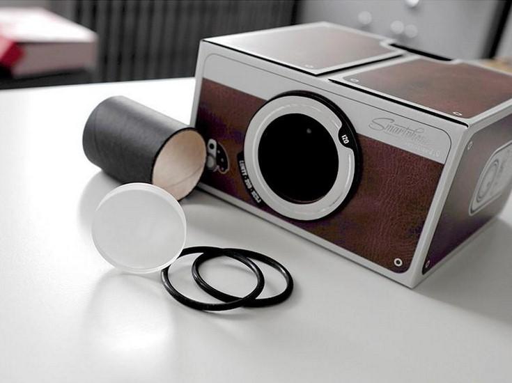 Картонный проектор для телефона