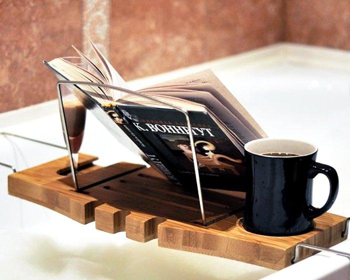 Подставка в ванную для чтения книг